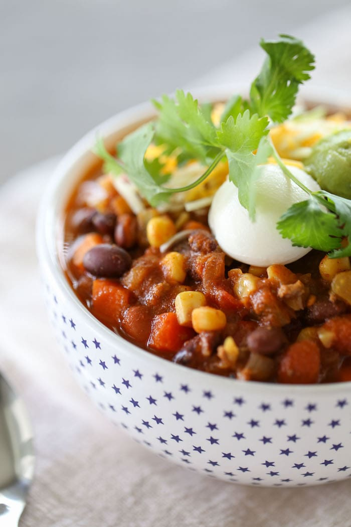 The most basic and veggie-tastic recipe for chili there ever was!! SO easy and SO good!