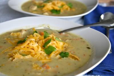 Creamy Green Chile Soup {Vegetarian & Gluten Free!}