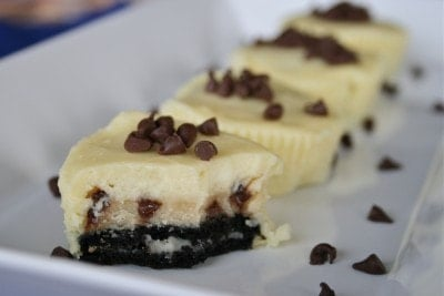 Chocolate Chip Cookie Dough Filled Oreo Cheesecakes | Lauren's Latest