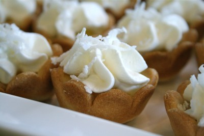The Easiest Mini Coconut Cream Pies….ever.