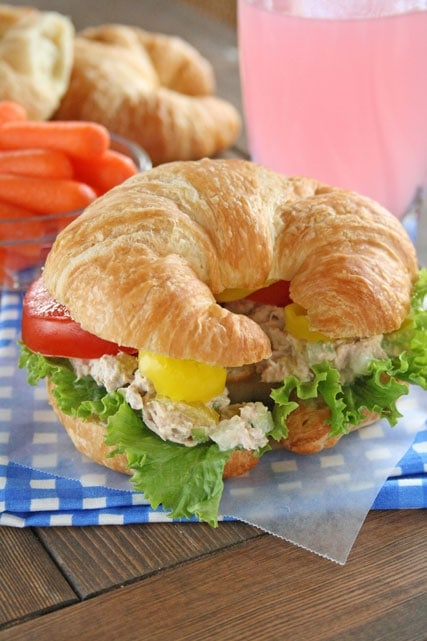 Tuna Salad Sandwich Croissant The best tuna fish salad sandwich lauren ...