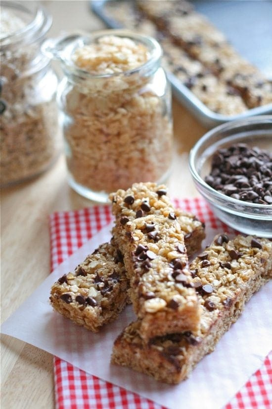 No Bake Chocolate Chip Granola Bars Simple To Make And Healthier And Cheaper