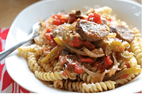 паста колбасками рецепт фото