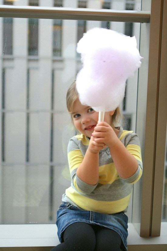 And, because the doughnuts were not enough, we got cotton candy! A ...