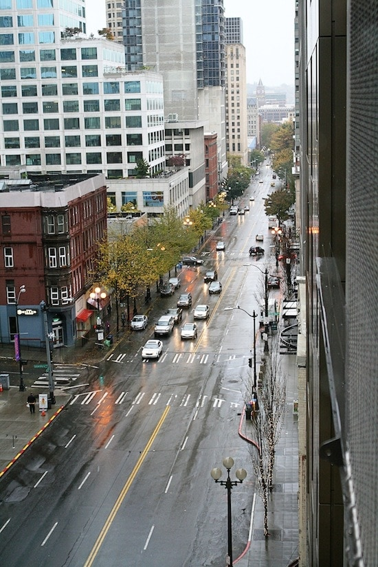Here's another view of that rainy Seattle morning.