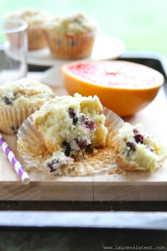 Blueberry Lemon Muffins from www.laurenslatest.com