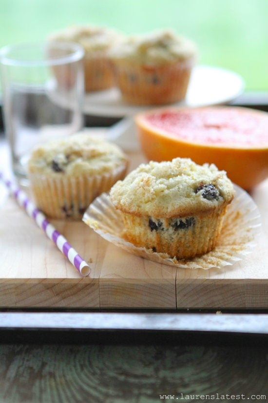 Gluten Free Blueberry Lemon Muffins from www.laurenslatest.com