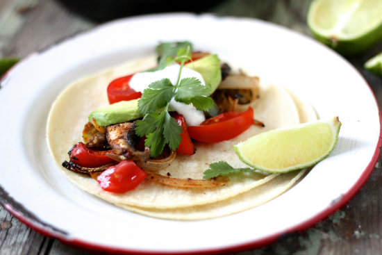 Vegetarian Naturally Gluten Free Fajitas from Lauren's Latest