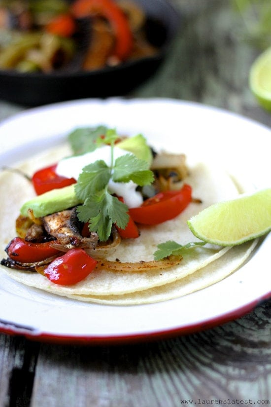 Naturally Gluten Free Vegetarian Fajitas