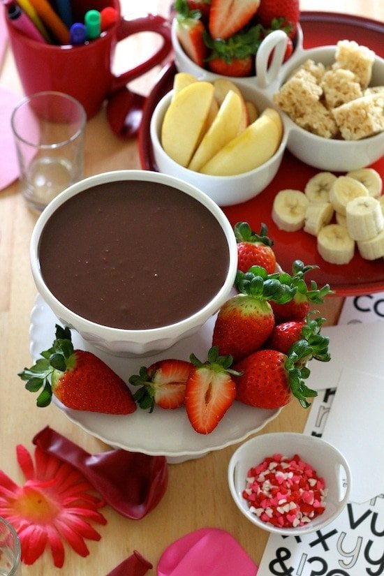 Easy Chocolate Dip for Valentine's Day + Brookside Chocolate Giveaway!