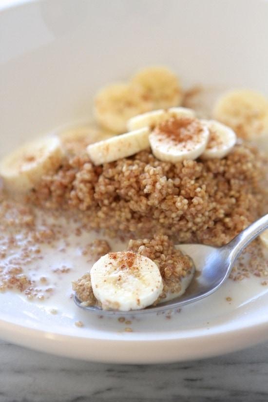 Microwave Cinnamon Maple Breakfast Quinoa from www.laurenslatest.com