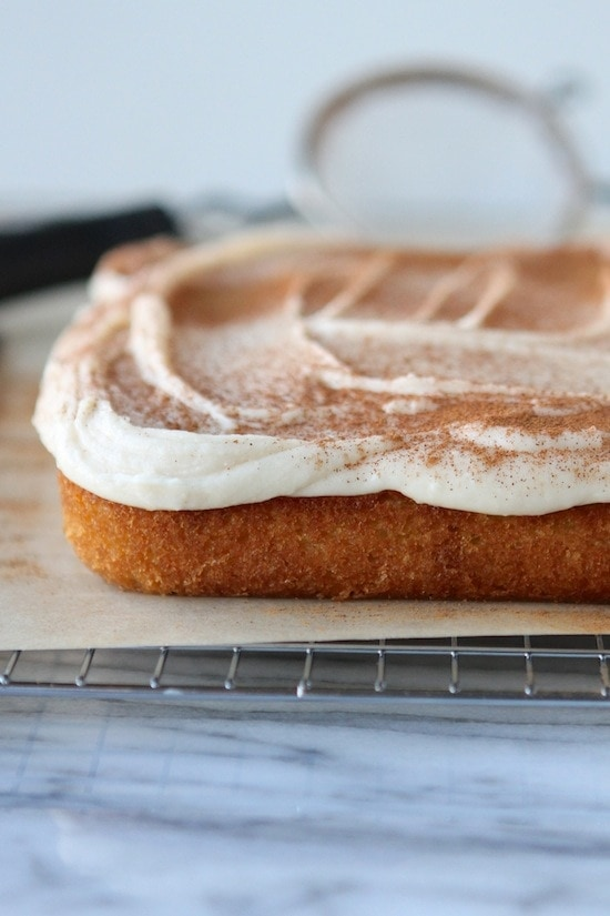 Vanilla Cinnamon Cake with Browned Butter Frosting + a GIVEAWAY!