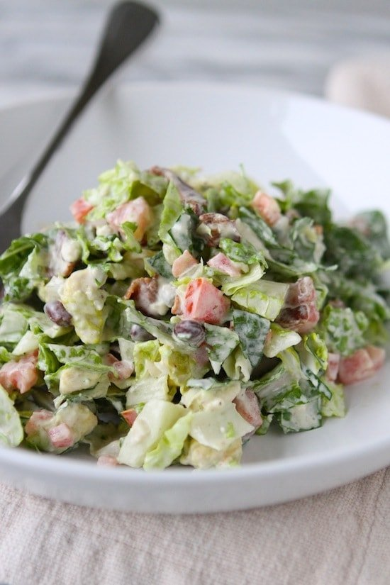 California Club Blue Cheese Chopped Salad from www.laurenslatest.com