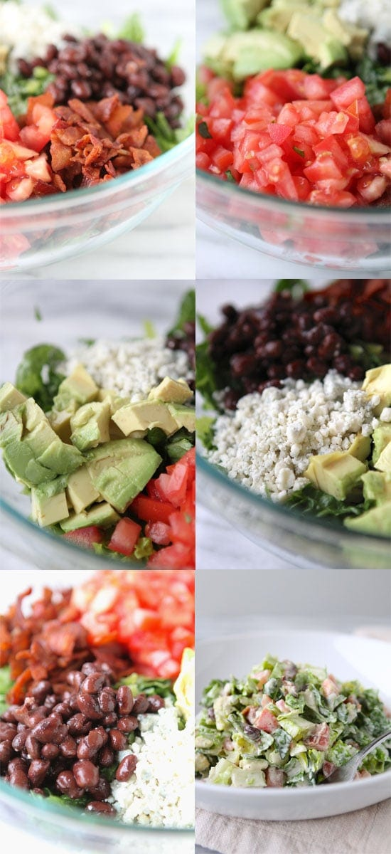 How to make a California Club Blue Cheese Chopped Salad from www.laurenslatest.com