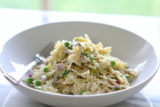 Tuna Pasta Salad with Dill & Peas
