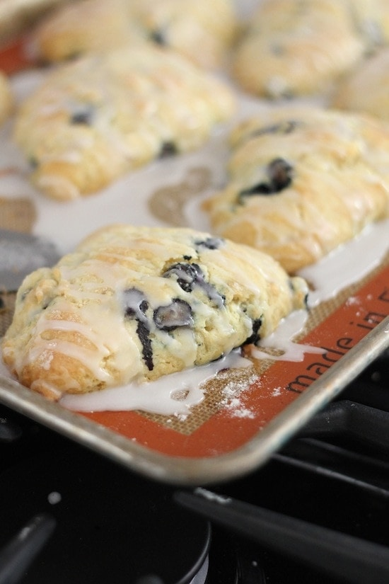 Blueberry Almond Scones from www.laurenslatest.com