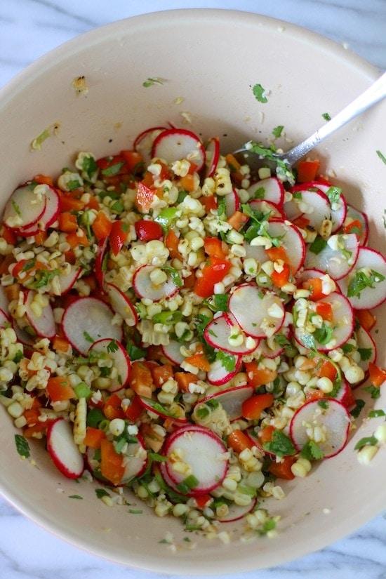 Charred Corn Salad {or Salsa}