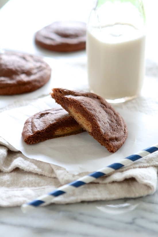 ... Peanut Butter Cup Filled Chocolate Pudding Cookies | Lauren's Latest