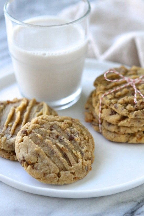 Soft Baked Peanut Butter Toffee Cookies | Lauren's Latest