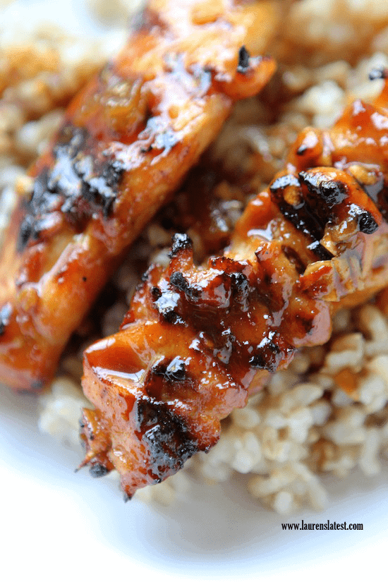 Grilled Sweet and Spicy Chicken Skewers