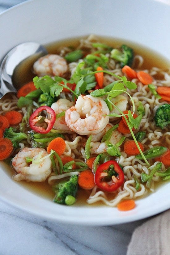 Shrimp and Veggie Ramen