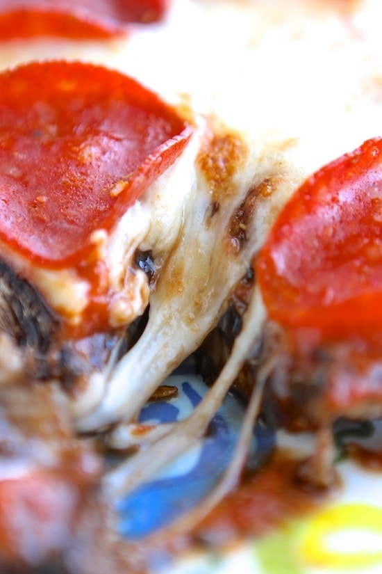 Low Carb Portobello Pizzas | Lauren's Latest