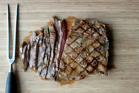 Grilled Garlic Flank Steak