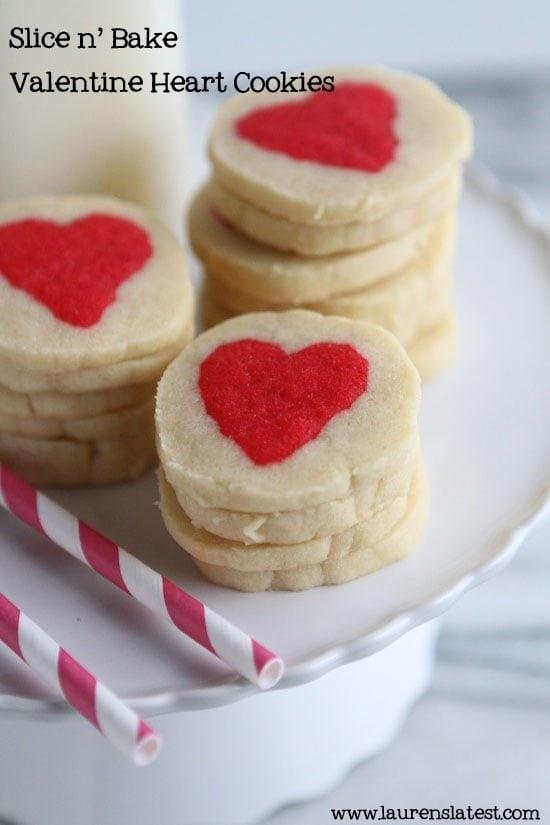 Slice n' Bake Heart Cookies | Lauren's Latest