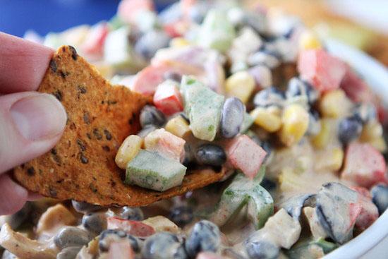 Tex-Mex Chopped Veggie Taco Dip