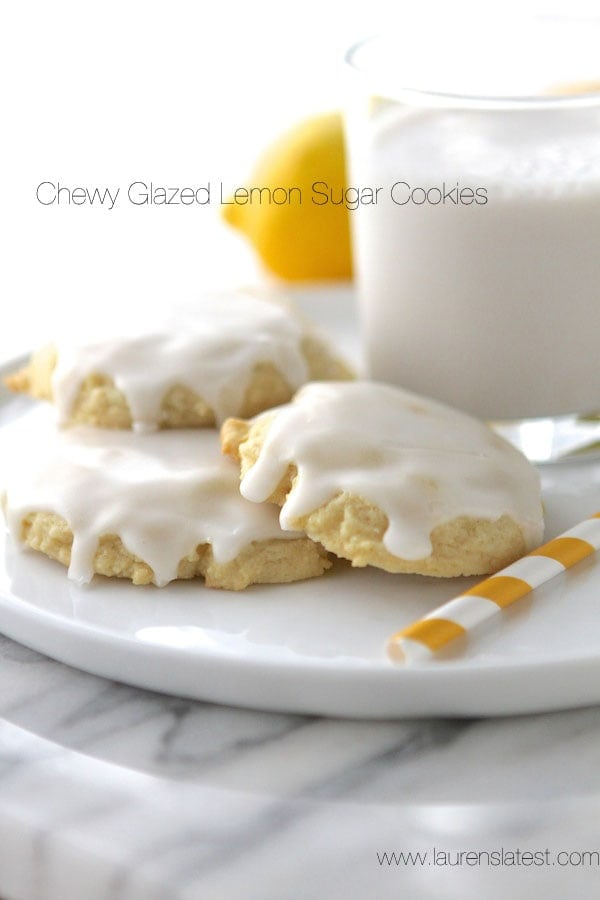 Chewy Glazed Lemon Sugar Cookies from www.laurenslatest.com