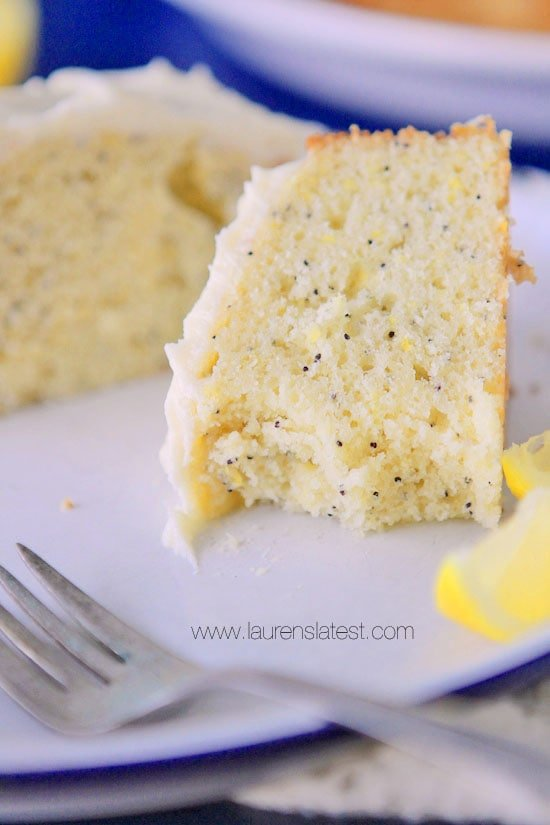 Lemon Poppyseed Cake with Cream Cheese Frosting | Lauren's Latest