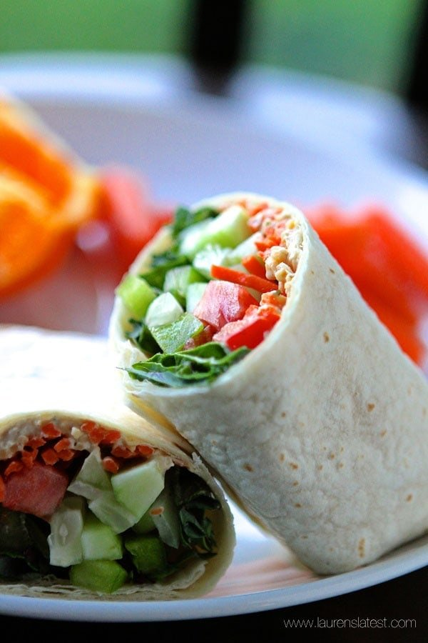 Hummus and Veggie Wraps from www.laurenslatest.com