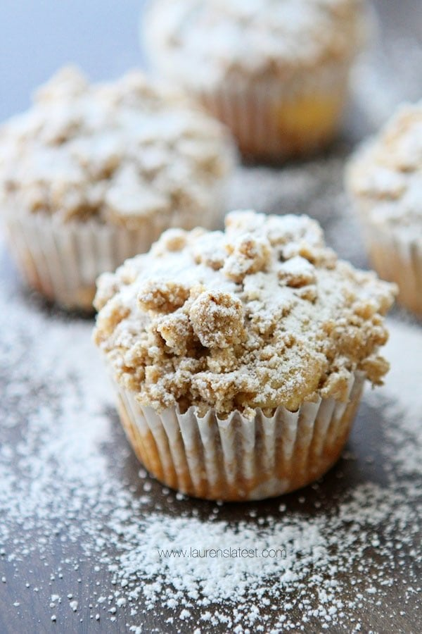 Cream Cheese Filled Crumb Muffins