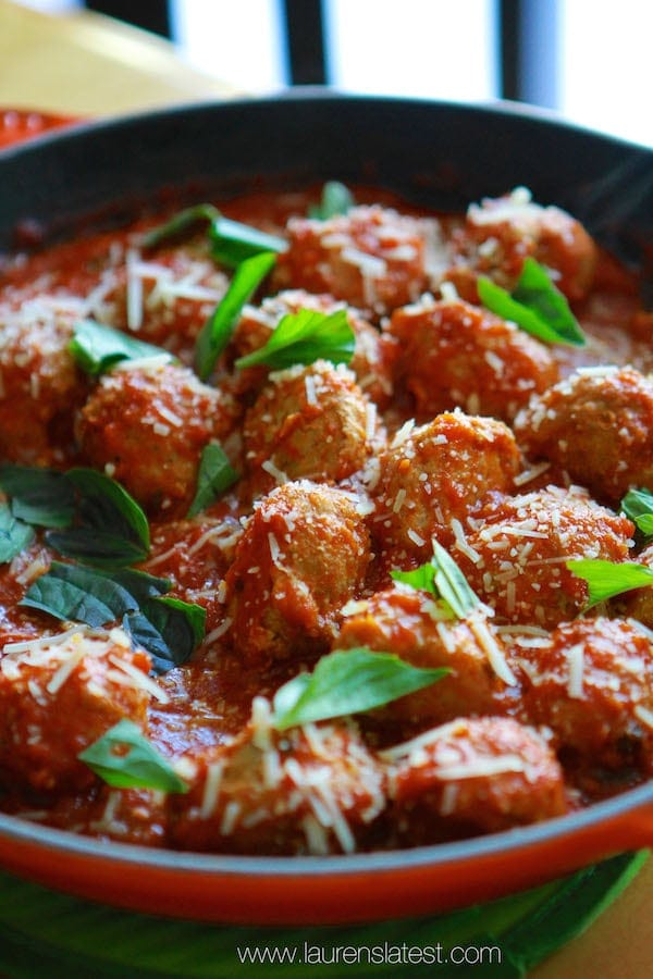 Freezer Turkey Meatballs from www.laurenslatest.com