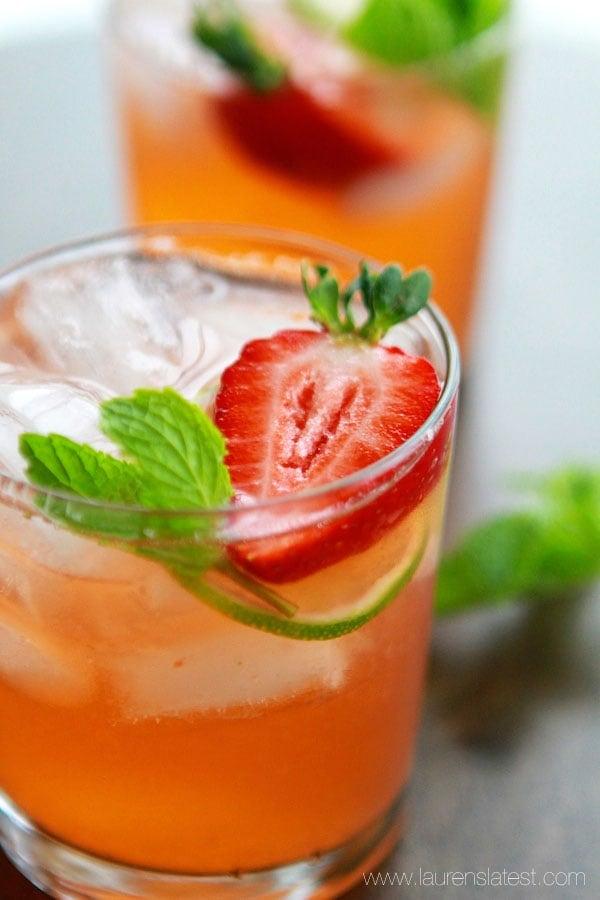 Strawberry Mint Limeade