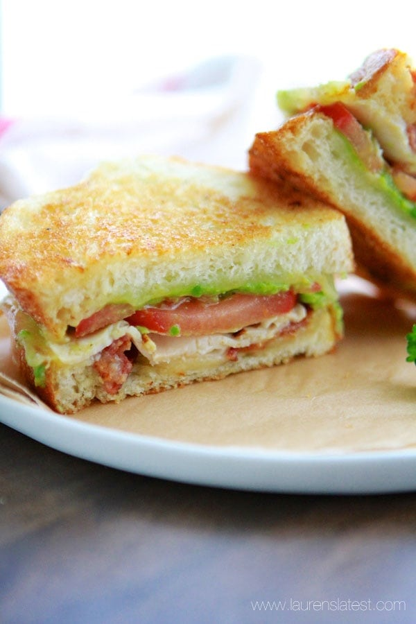 California Club Grilled Cheese Sandwich