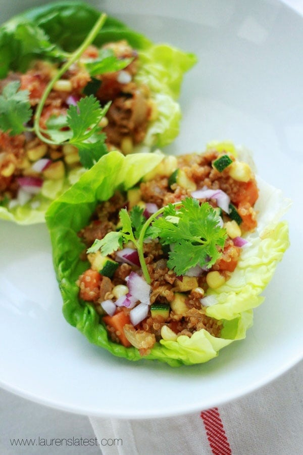 Southwest Sausage and Quinoa Lettuce Wraps