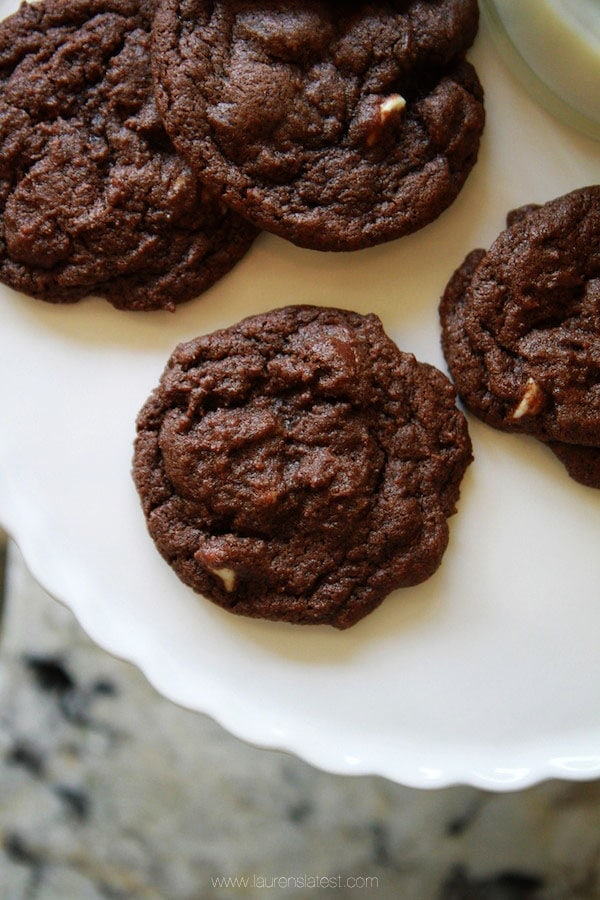 Triple Chocolate Brownie Cookies | Lauren's Latest