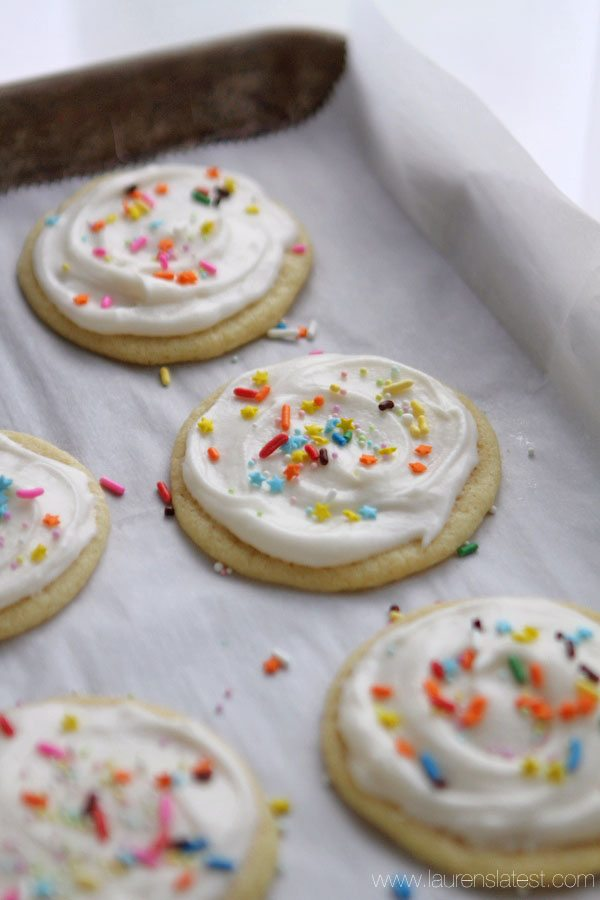 Bakery-Style Soft Baked Sugar Cookies | Lauren's Latest
