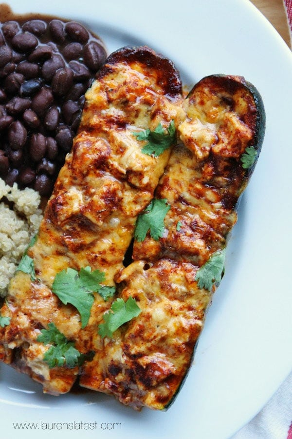 Cheesy Enchilada Stuffed Zucchini | Lauren's Latest ...