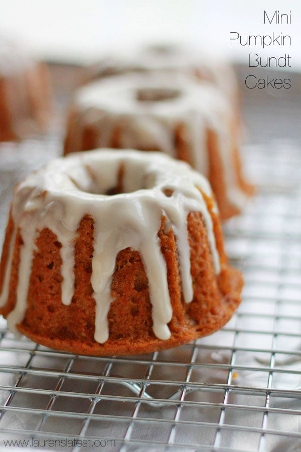 Glazed Mini Pumpkin Bundt Cakes Lauren S Latest