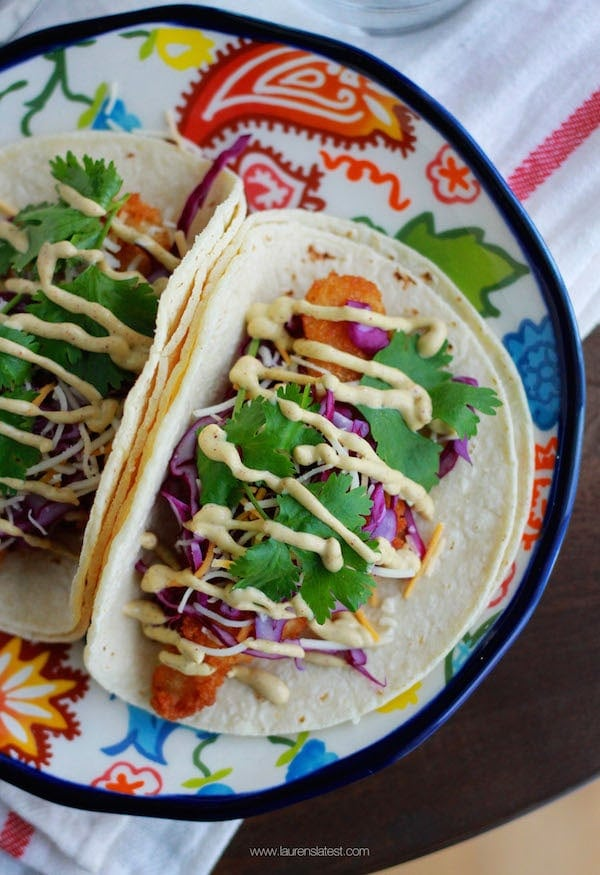Baja fish taco bar lauren 39 s latest for Baja fish taco sauce