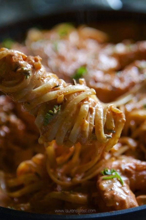 Spicy Shrimp Pasta With Creamy Tomato Sauce Lauren S Latest