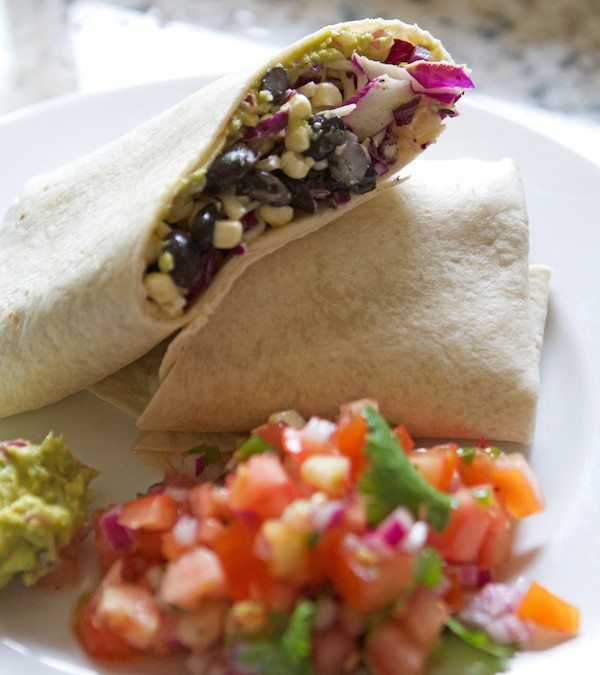 Summer Burritos with Pico and Guac
