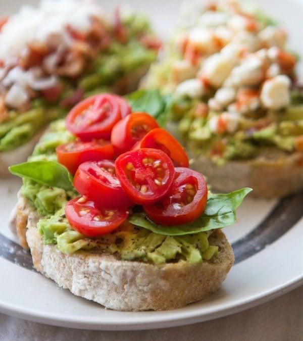Avocado Toasts–3 Ways
