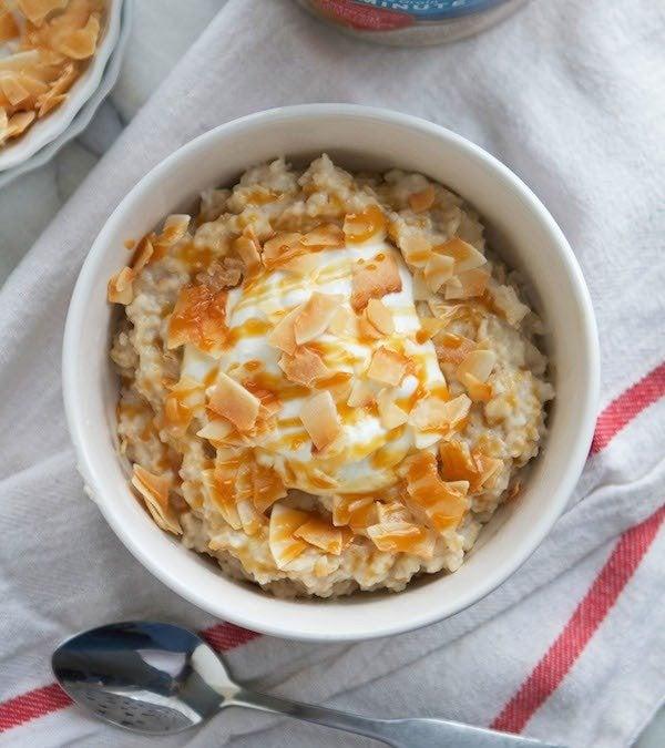 Caramel Coconut Cream Oatmeal