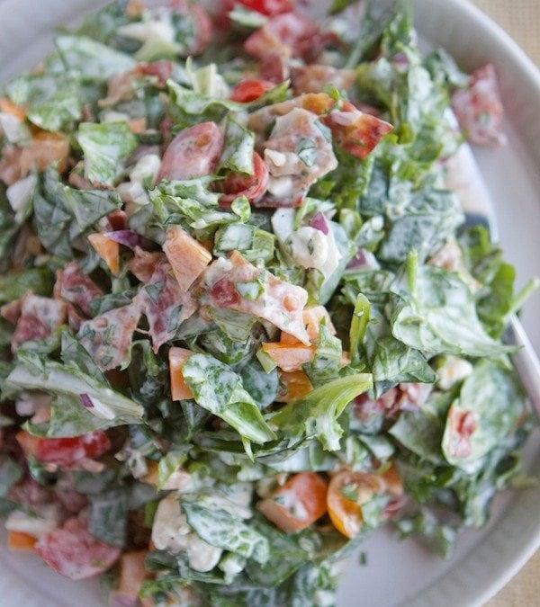 BLT Chopped Salad with Basil Green Goddess Dressing