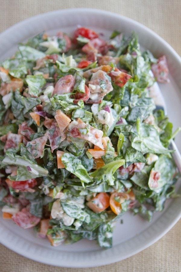BLT Chopped Salad with Basil Green Goddess Dressing ...