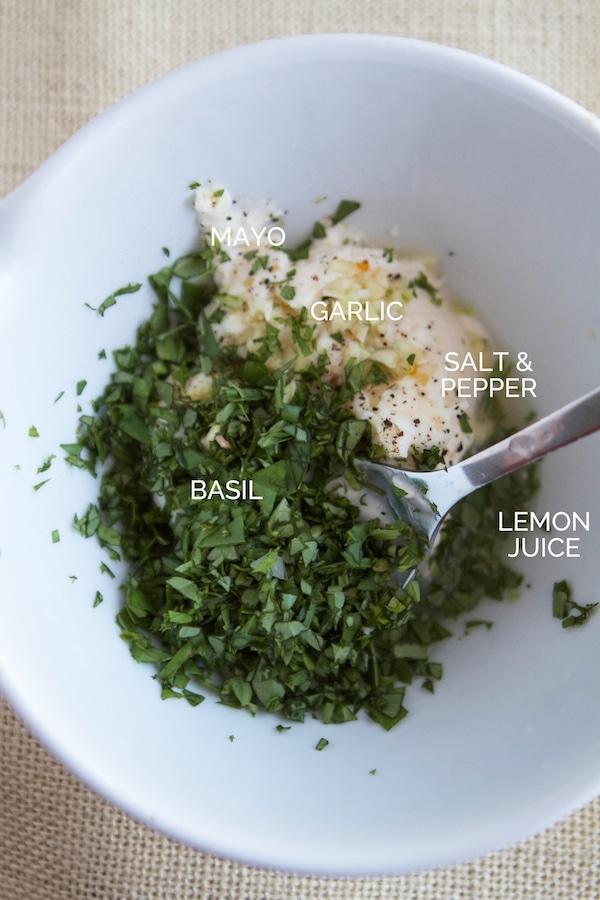 BLT Chopped Salad with Basil Green Goddess Dressing | Lauren's Latest