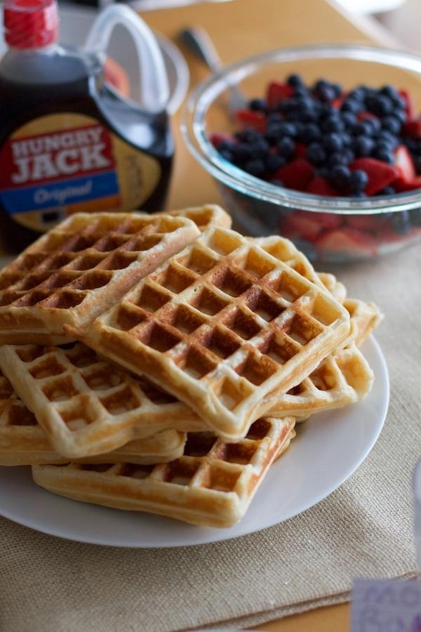 Lemon Sour Cream Waffles | Lauren's Latest
